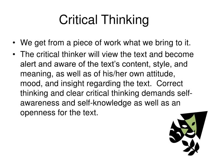critical thinking introduction powerpoint