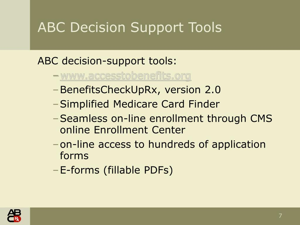 ABC Decision Support Tools