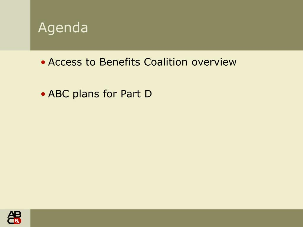 Access to Benefits Coalition overview