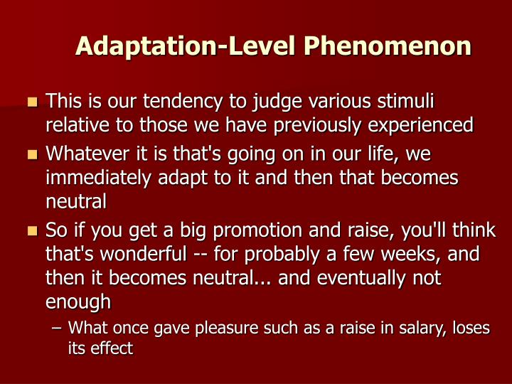 Adaptation-Level Phenomenon
