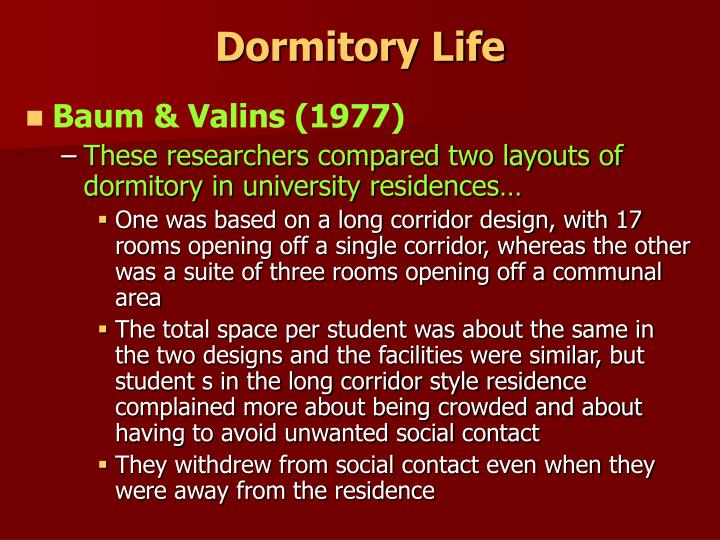 Dormitory Life