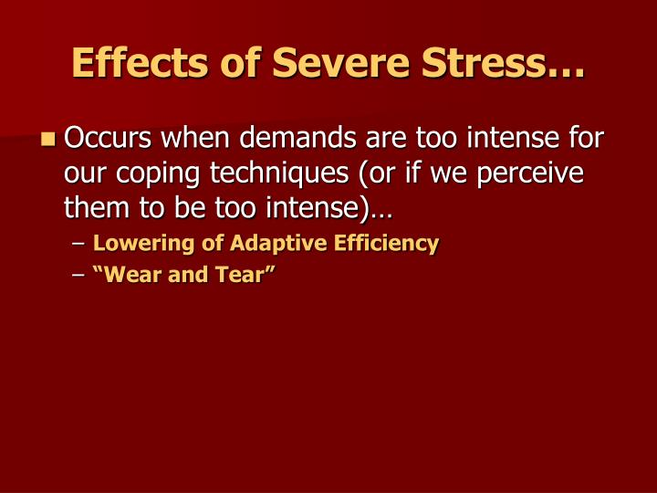 Effects of Severe Stress…