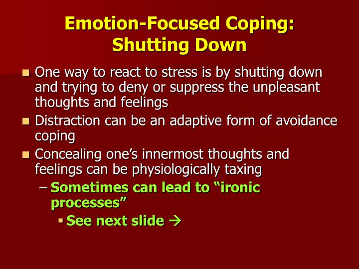 Emotion-Focused Coping: