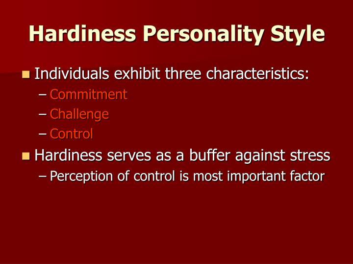 Hardiness Personality Style