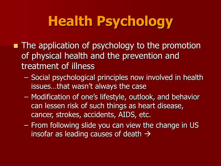 Health psychology