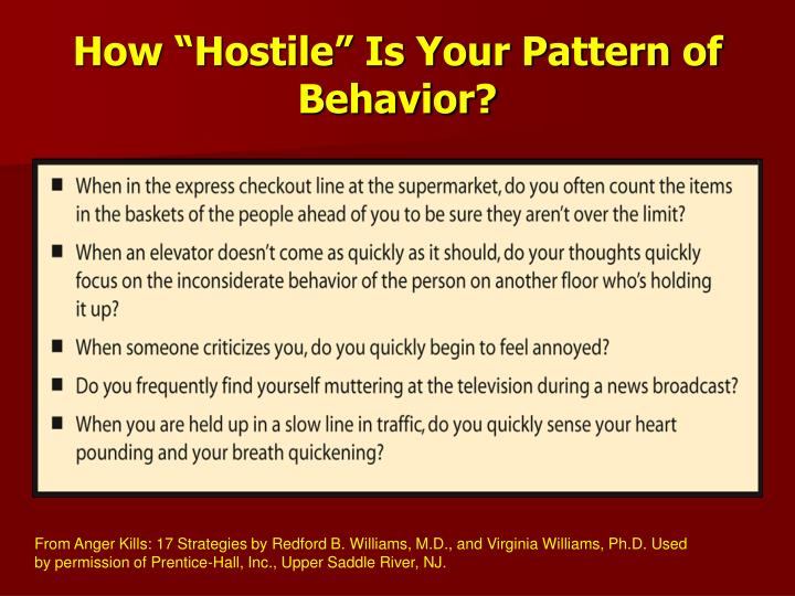 "How ""Hostile"" Is Your Pattern of Behavior?"