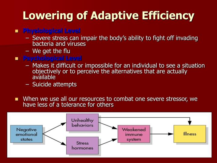 Lowering of Adaptive Efficiency