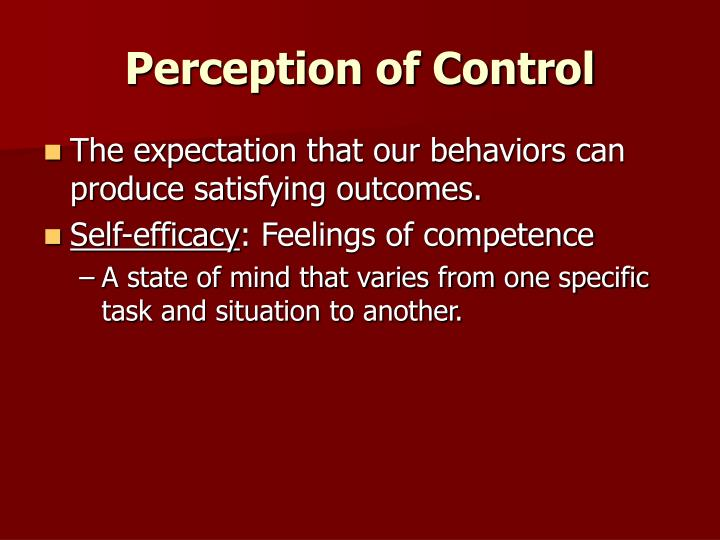Perception of Control