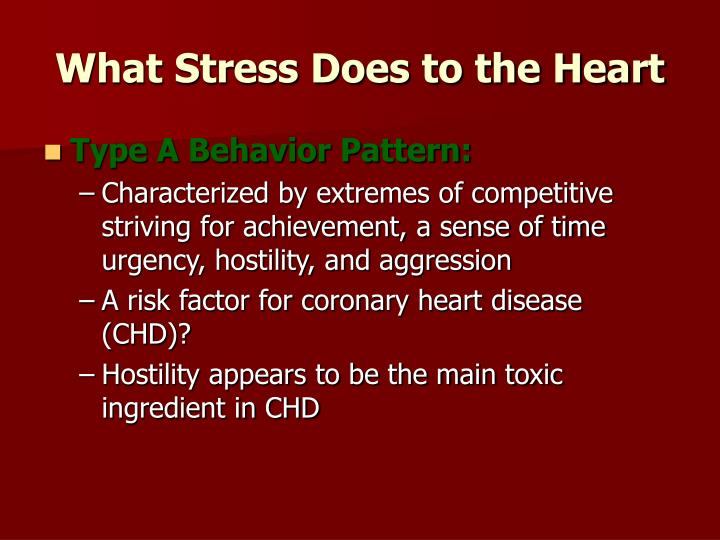 What Stress Does to the Heart
