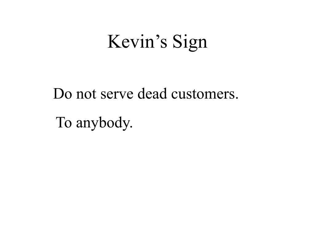 Kevin's Sign