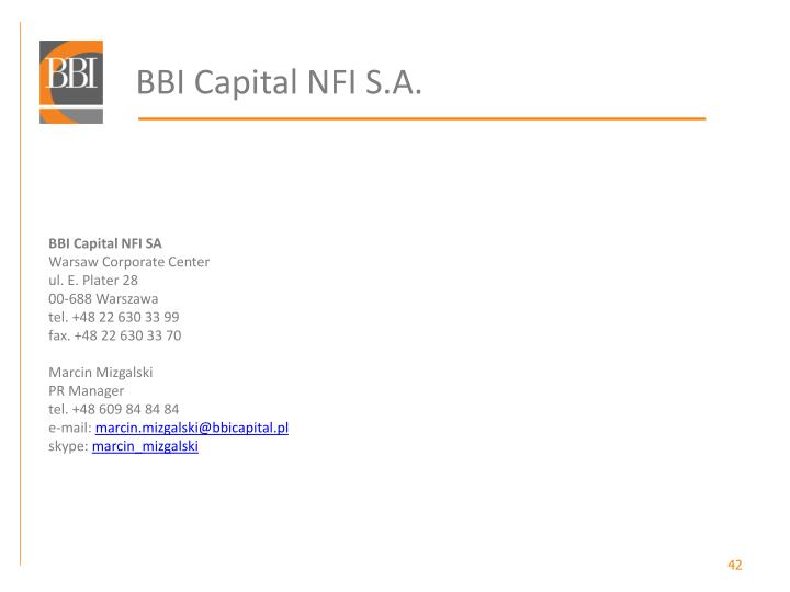 BBI Capital NFI S.A.