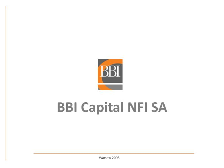 Bbi capital nfi sa