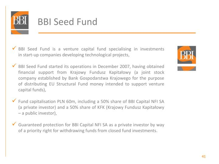 BBI Seed Fund