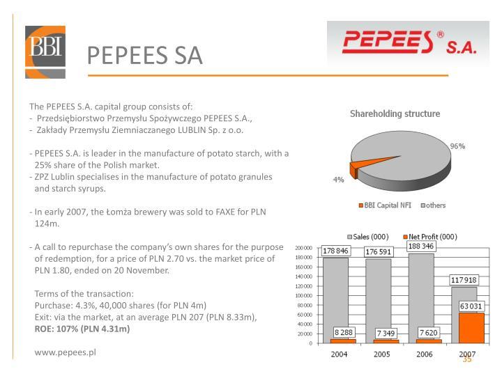 PEPEES SA