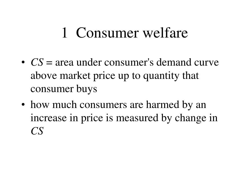 1  Consumer welfare