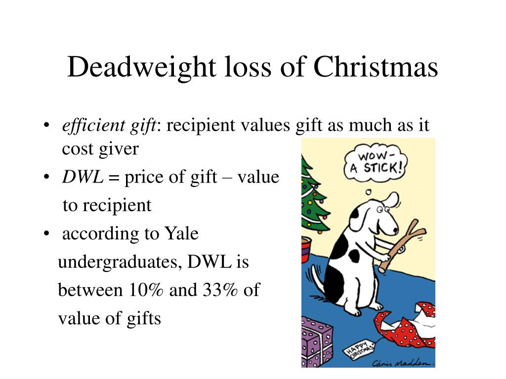 Deadweight loss of Christmas