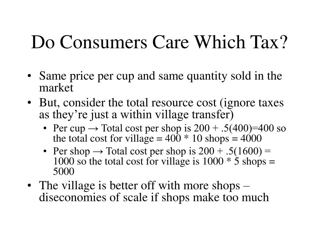 Do Consumers Care Which Tax?