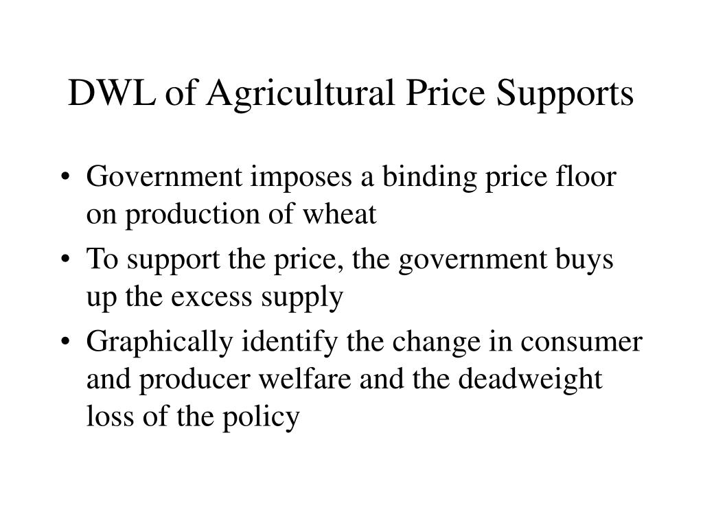 DWL of Agricultural Price Supports