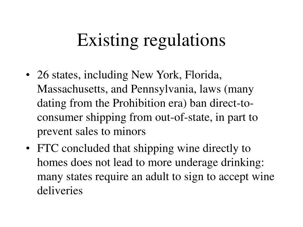Existing regulations