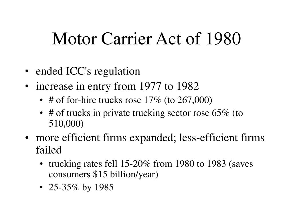 Motor Carrier Act of 1980