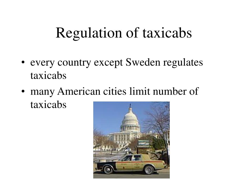 Regulation of taxicabs