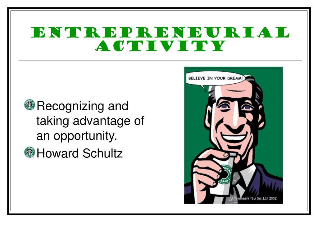 Entrepreneurial Activity