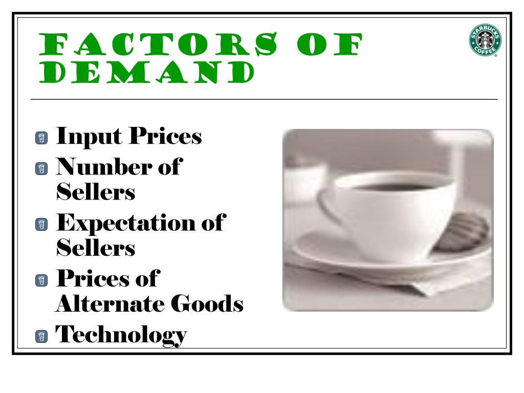 Factors of Demand