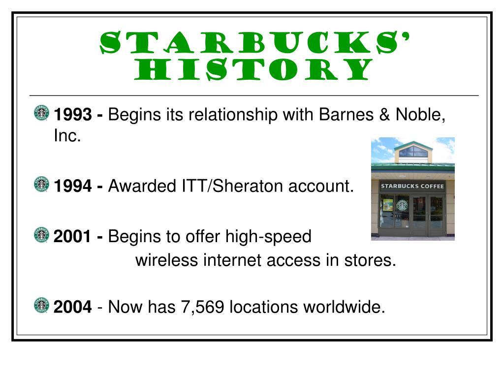 Starbucks' History