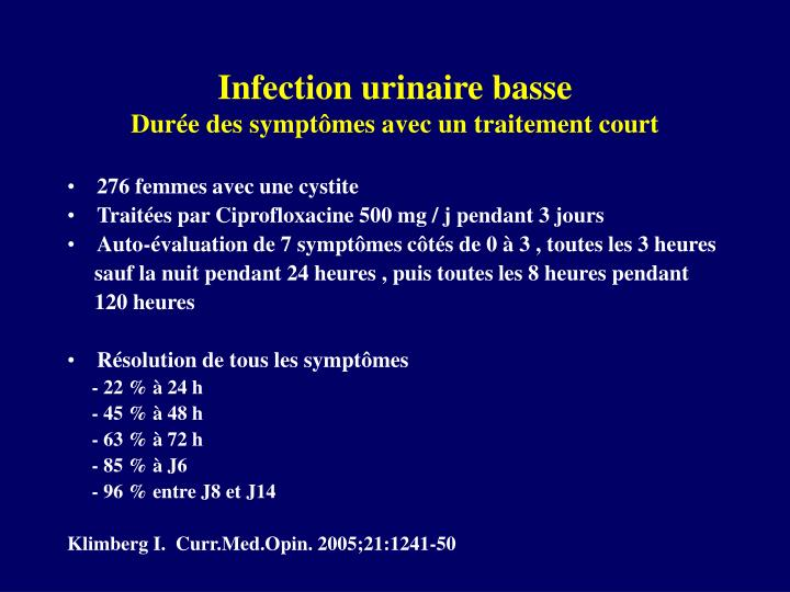 Infection urinaire basse