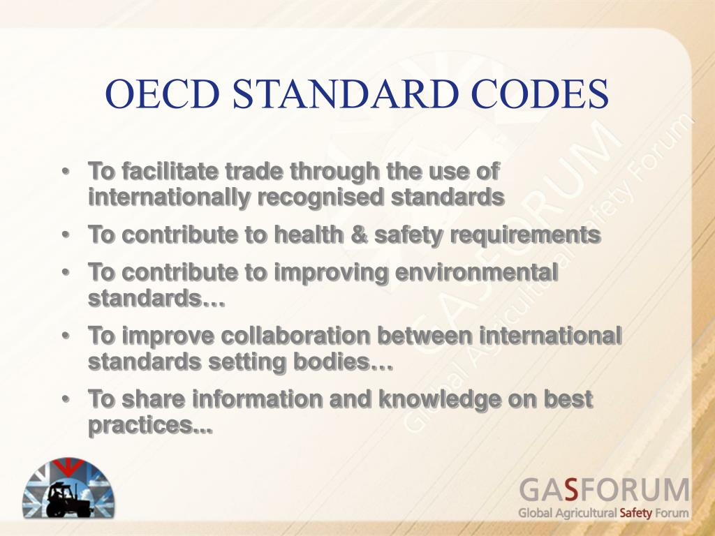 OECD STANDARD CODES