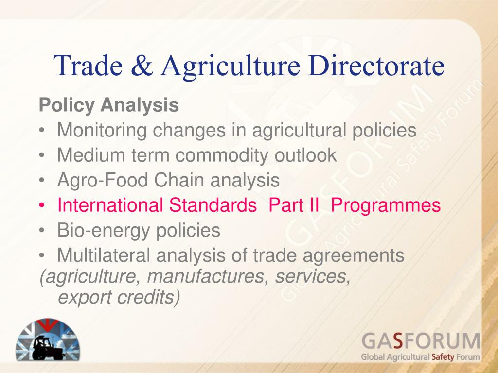 Trade & Agriculture Directorate