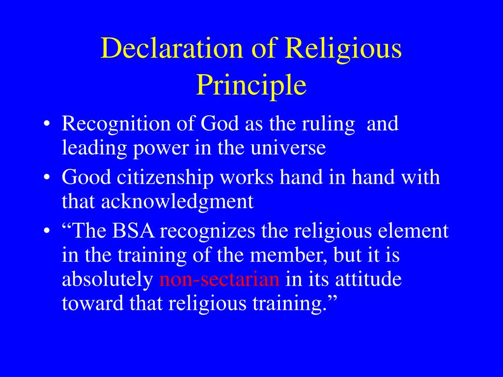 Declaration of Religious Principle