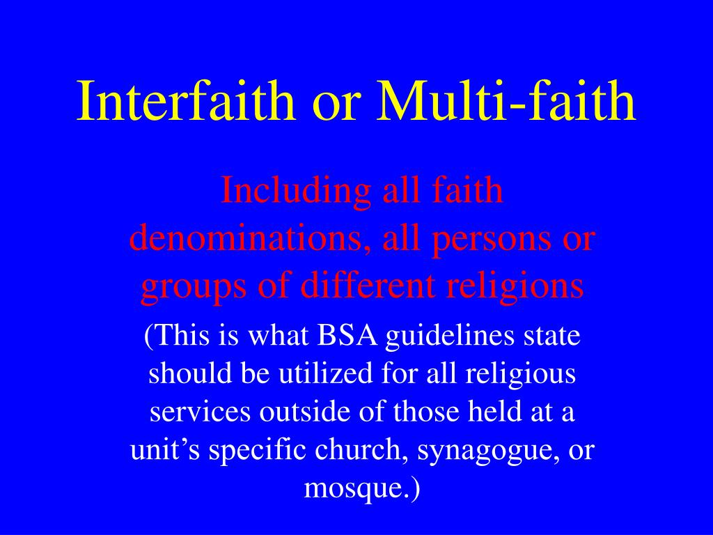 Interfaith or Multi-faith
