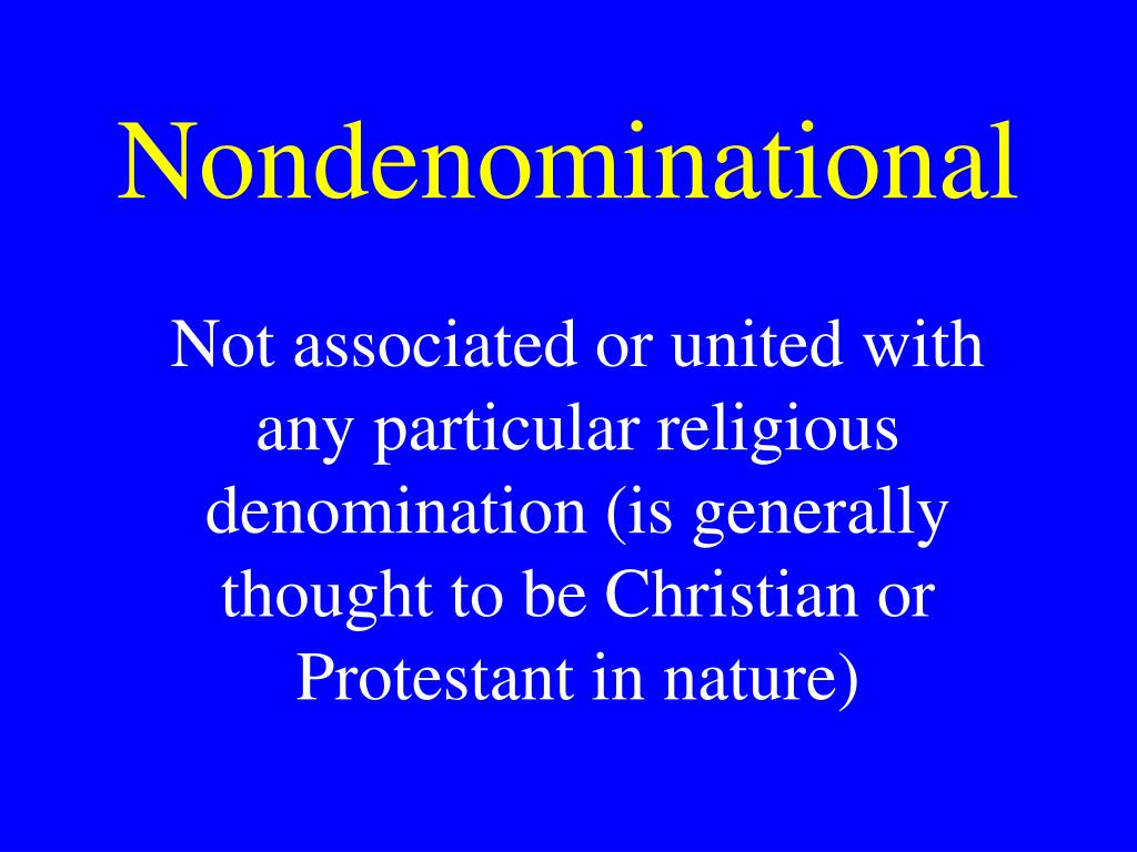 Nondenominational