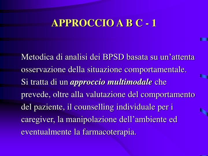 APPROCCIO A B C - 1