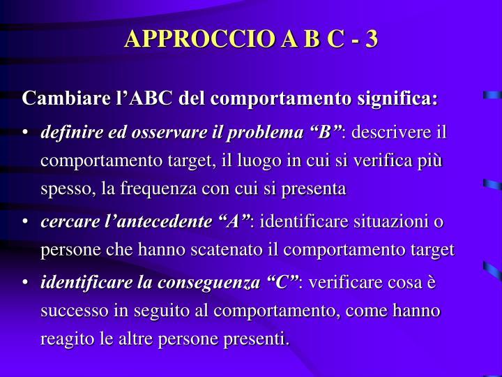 APPROCCIO A B C - 3