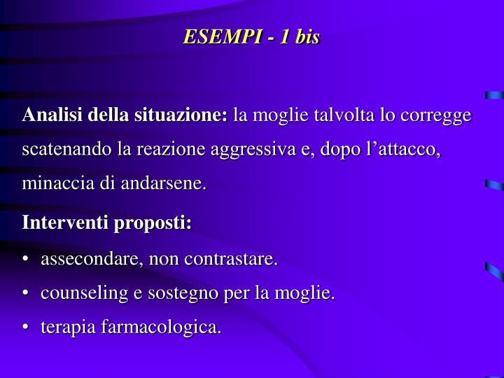 ESEMPI - 1 bis