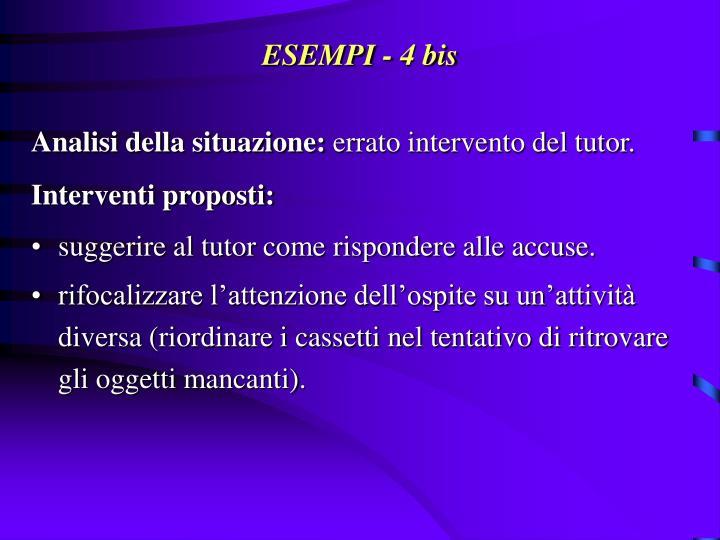 ESEMPI - 4 bis