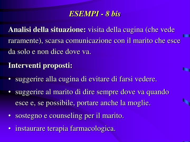 ESEMPI - 8 bis