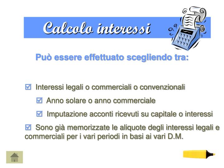 Calcolo interessi