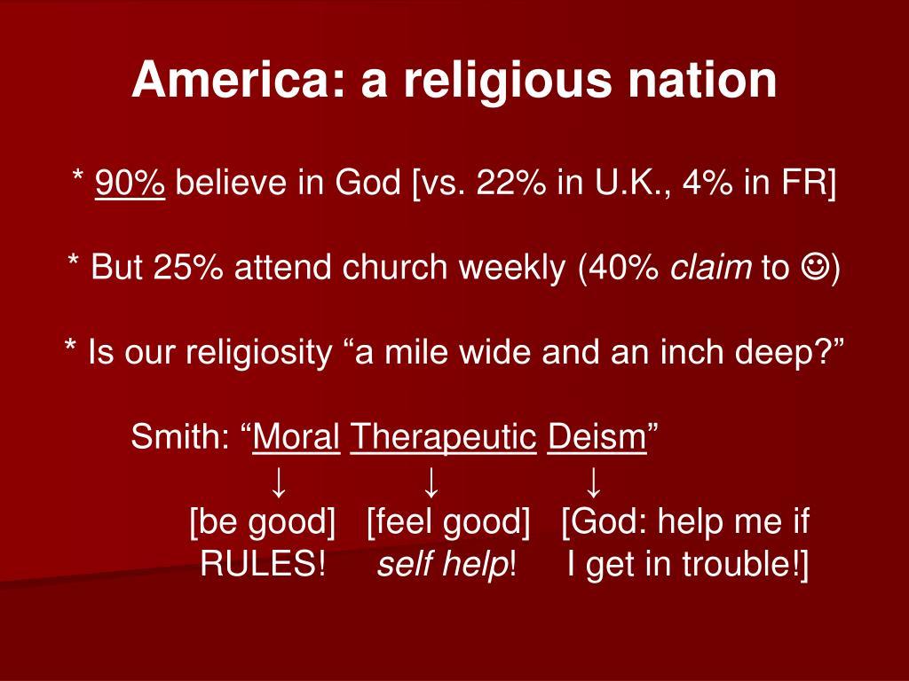 America: a religious nation