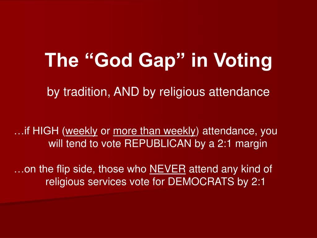 """The """"God Gap"""" in Voting"""