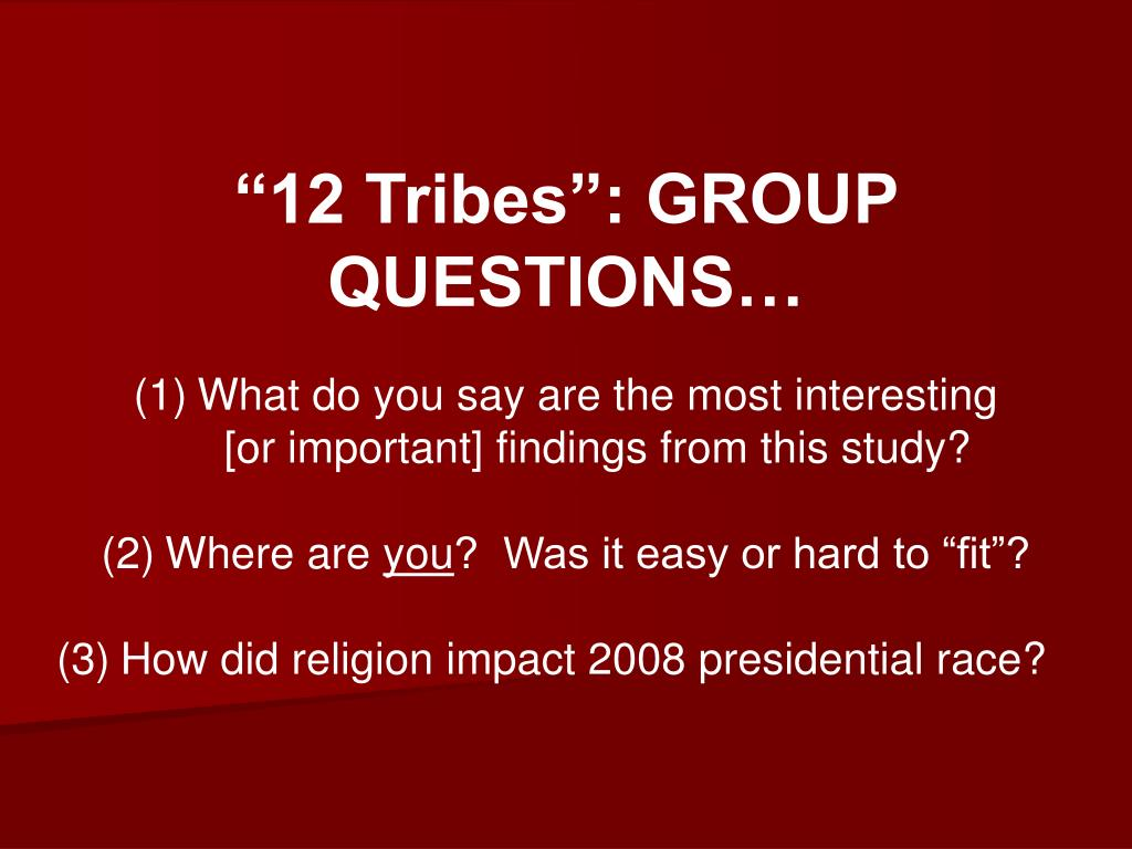 """""""12 Tribes"""