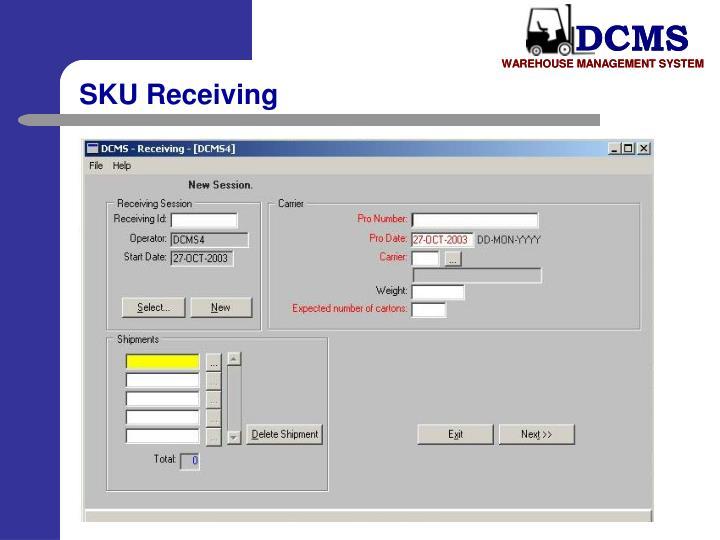 SKU Receiving
