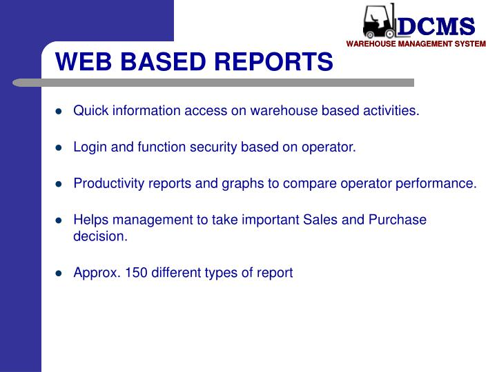 WEB BASED REPORTS