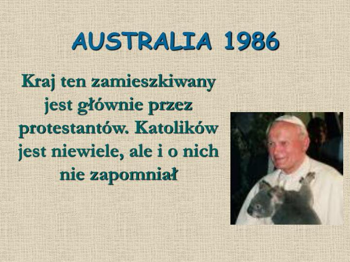 AUSTRALIA 1986