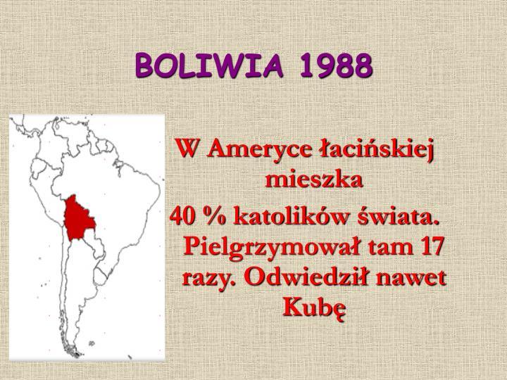 BOLIWIA 1988