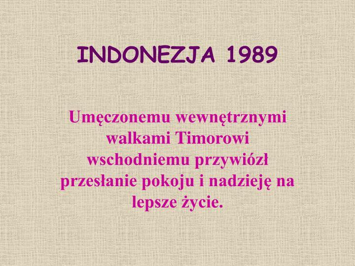 INDONEZJA 1989