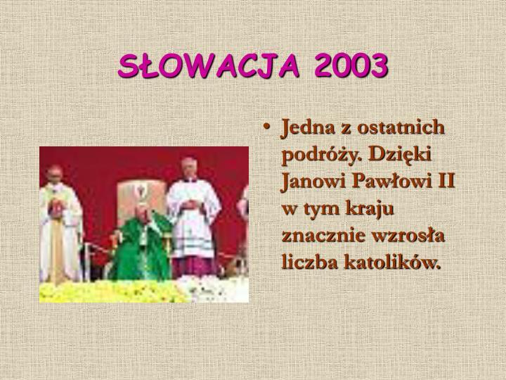 SŁOWACJA 2003