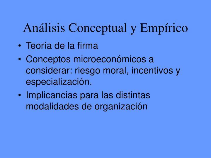 Análisis Conceptual y Empírico